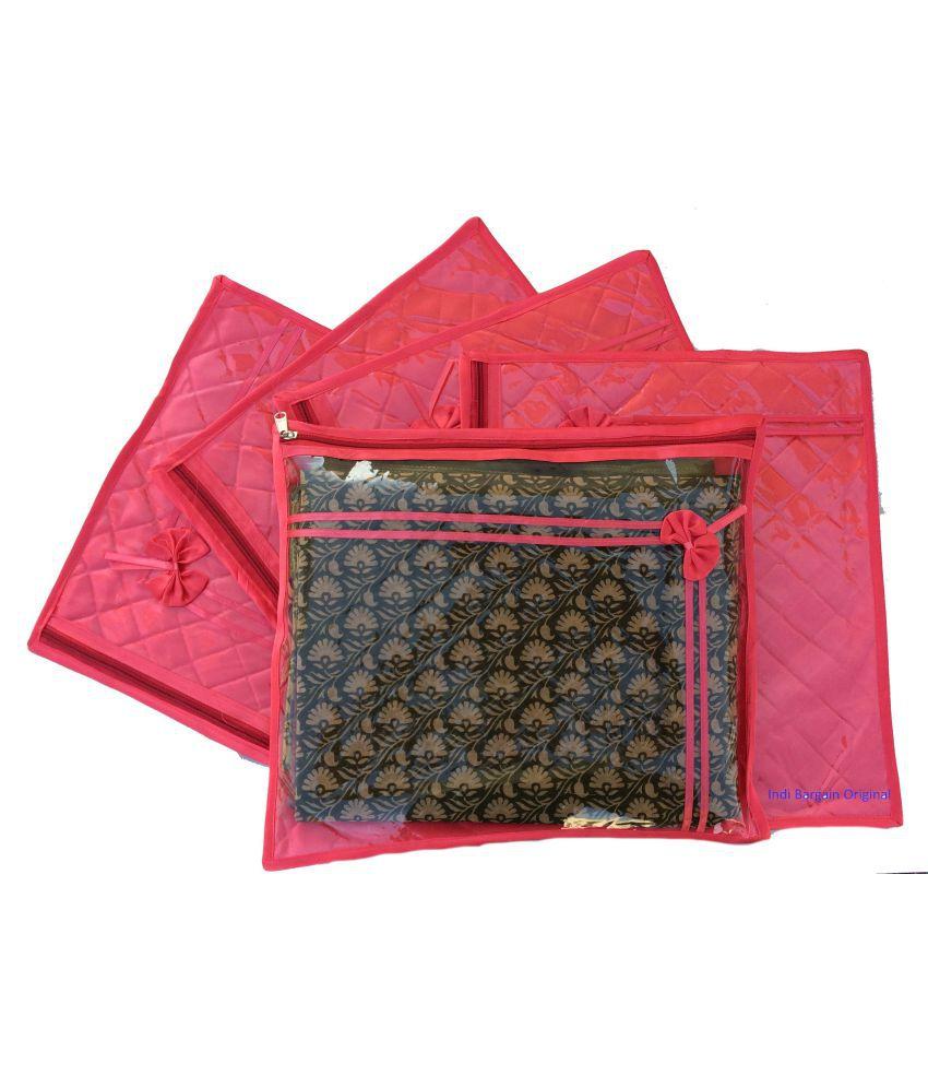 Indi Bargain Red Saree Covers - 5 Pcs