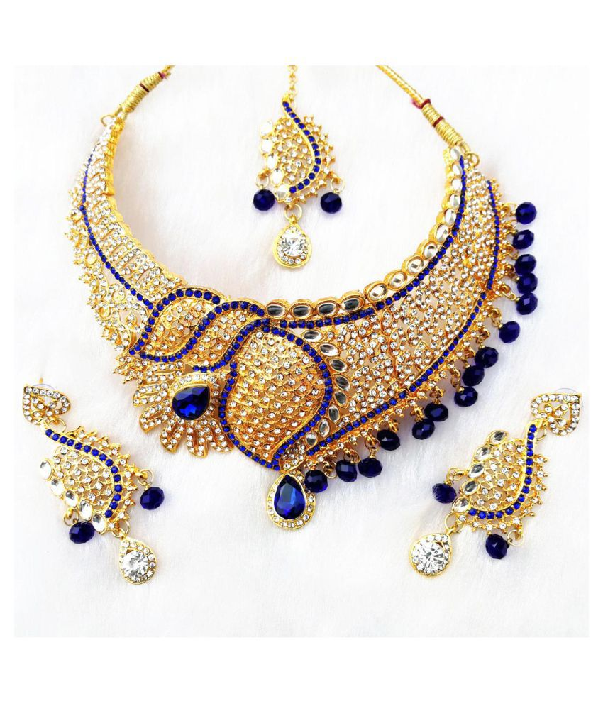 Kundan Zirconic Necklace jewelry Set