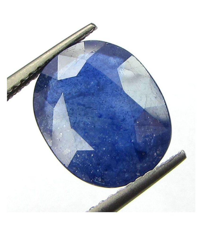 Certified 7.75 -Ratti IGI Blue Blue Sapphire (Neelam) Precious Gemstone