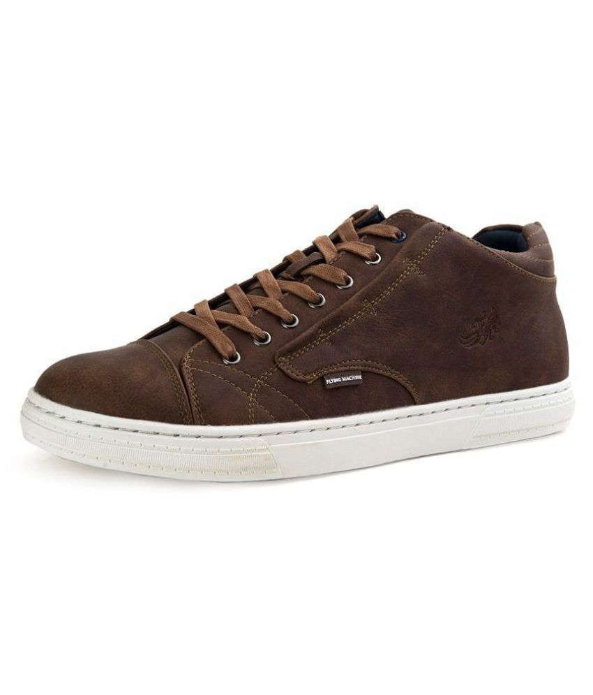 5519856debe Flying Machine Jonathan Sneakers Brown Casual Shoes - Buy Flying Machine  Jonathan Sneakers Brown Casual Shoes Online at Best Prices in India on  Snapdeal