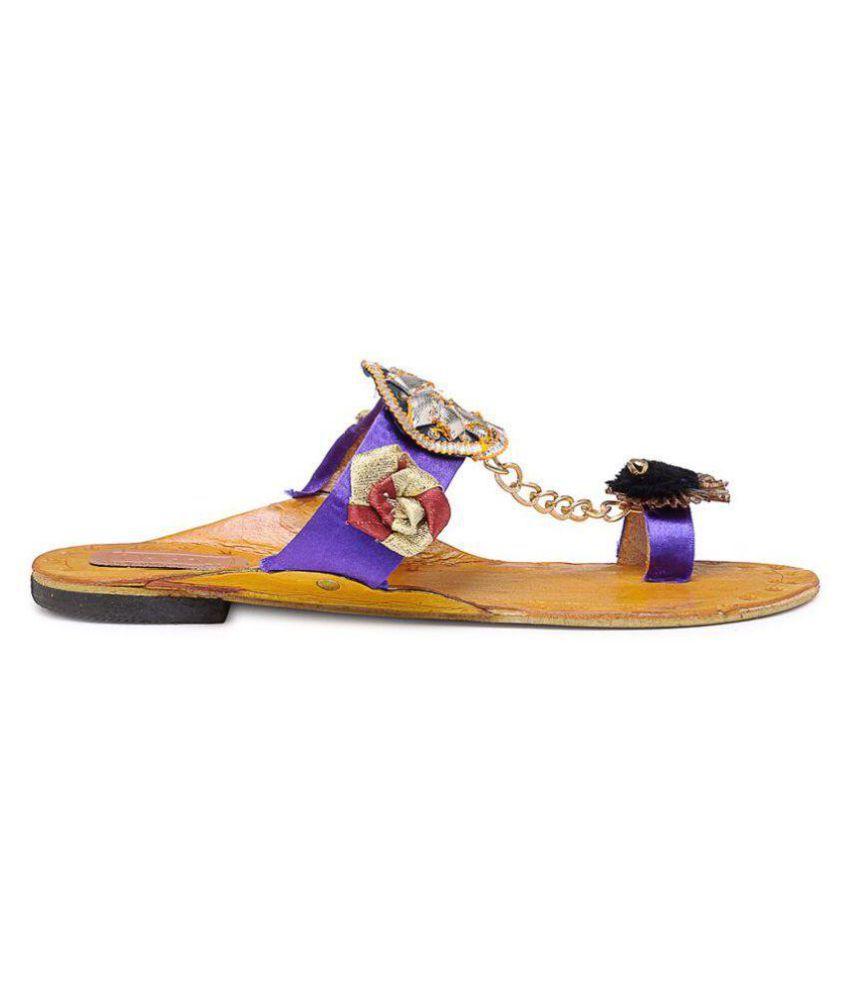 N-Gal Blue Ethnic Footwear