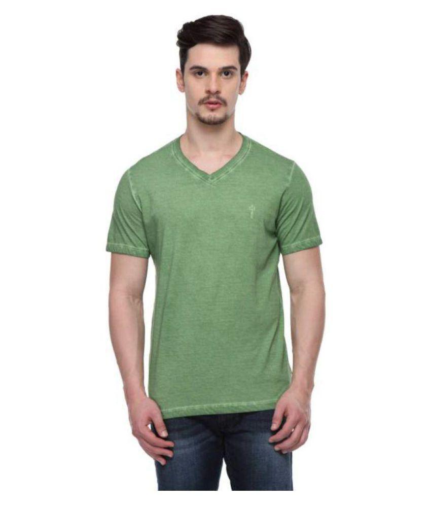 ODAKA Green V-Neck T-Shirt Pack of 1