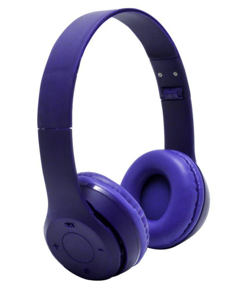 Spantech TM-036 Wireless Bluetooth Headphone Blue