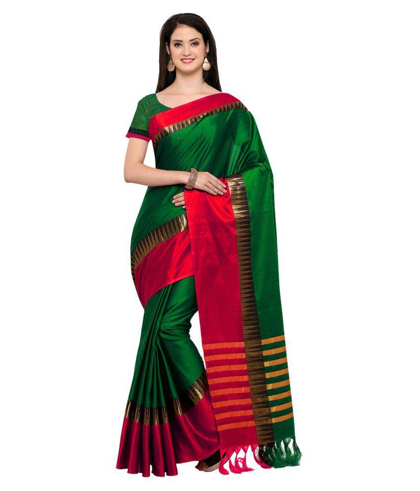 Saree Mall Multicoloured Cotton Silk Saree