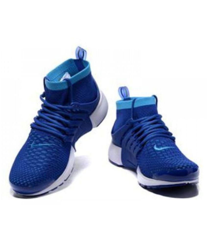 7d975c16e2e2b Nike Air Presto Flyknit Blue Running Shoes - Buy Nike Air Presto Flyknit  Blue Running Shoes Online at Best Prices in India on Snapdeal