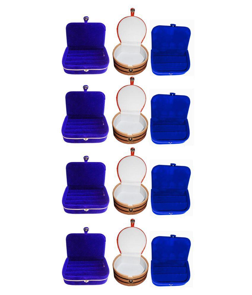Afrose Combo 4 pc blue ring box 4 pc blue ear ring box  and 4 pc bangle box