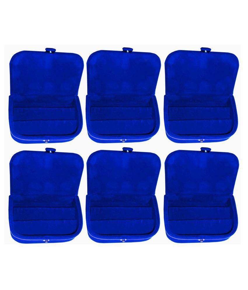 Sabita Set of 6 velvet Earring folder Ring box jewelery case ring storage ear ring travelling folder