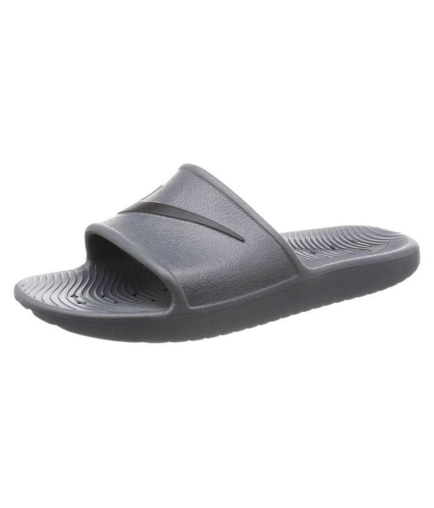 promoción especial lindos zapatos profesional Nike Kawa Shower & Pool Slides Gray Slide Flip flop Price in India ...