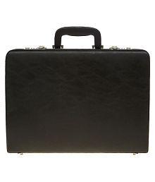 Leather World Black Medium Briefcase