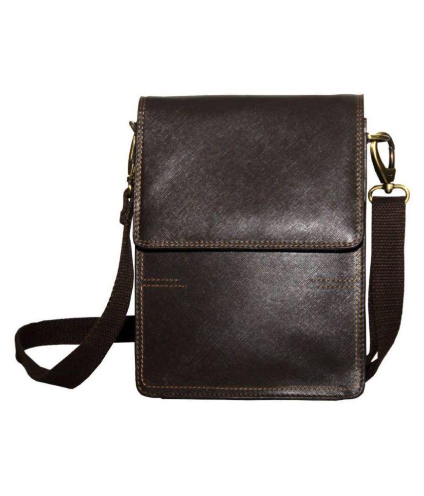 Tamanna Men   Women Brown Genuine Leather Sling Bag - Buy Tamanna ... 78912f1abc37e