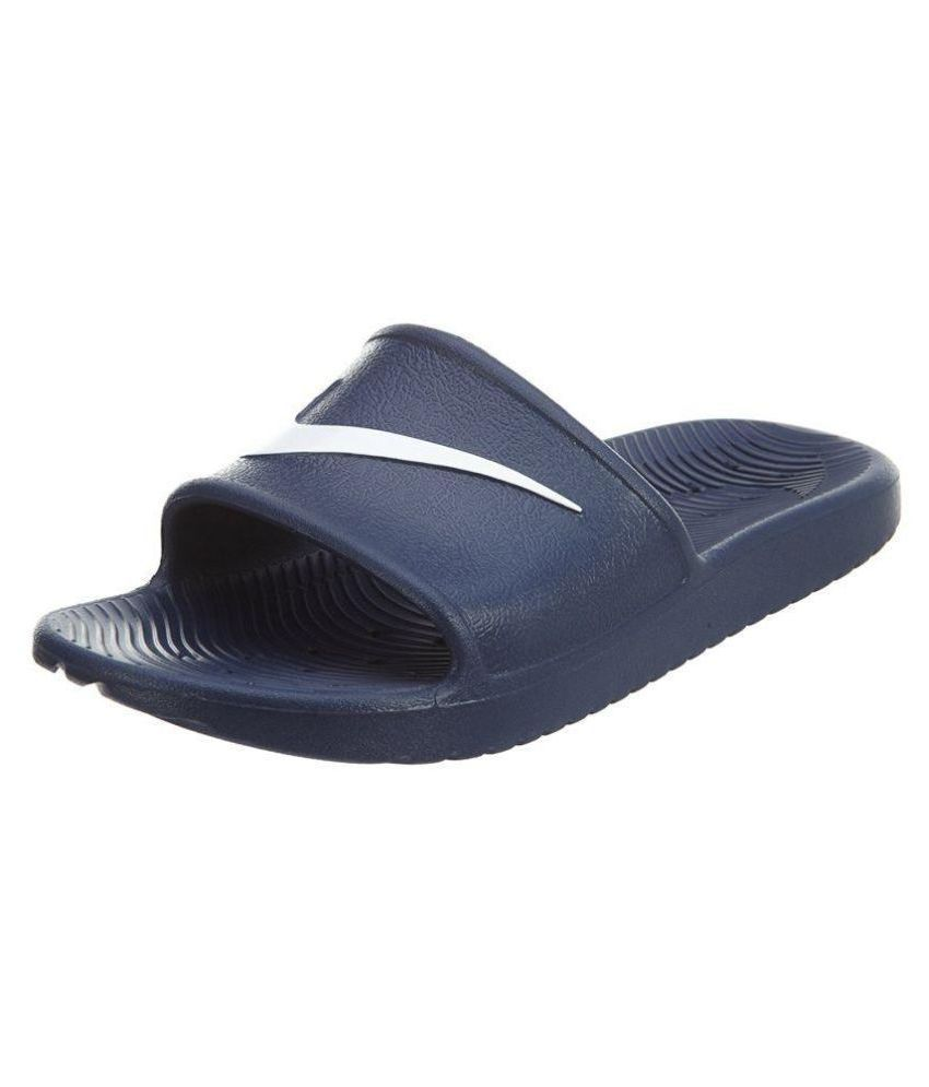 4fc3c920be6d Nike Kawa Blue Slide Flip flop Price in India- Buy Nike Kawa Blue Slide  Flip flop Online at Snapdeal
