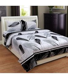 Homesense Cotton Double Bedsheet With 2 Pillow Covers