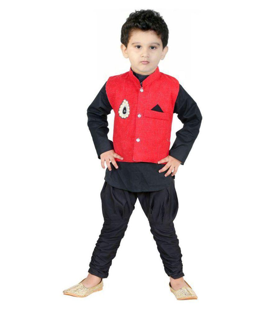 7efdac7c6 FTC Bazar Boys Festive & Party Kurta, Waistcoat and Pyjama Set (Red Pack of  1) - Buy FTC Bazar Boys Festive & Party Kurta, Waistcoat and Pyjama Set  (Red ...