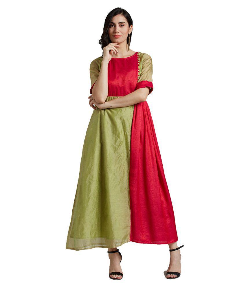 Jaipur Kurti Silk Multi Color Dresses