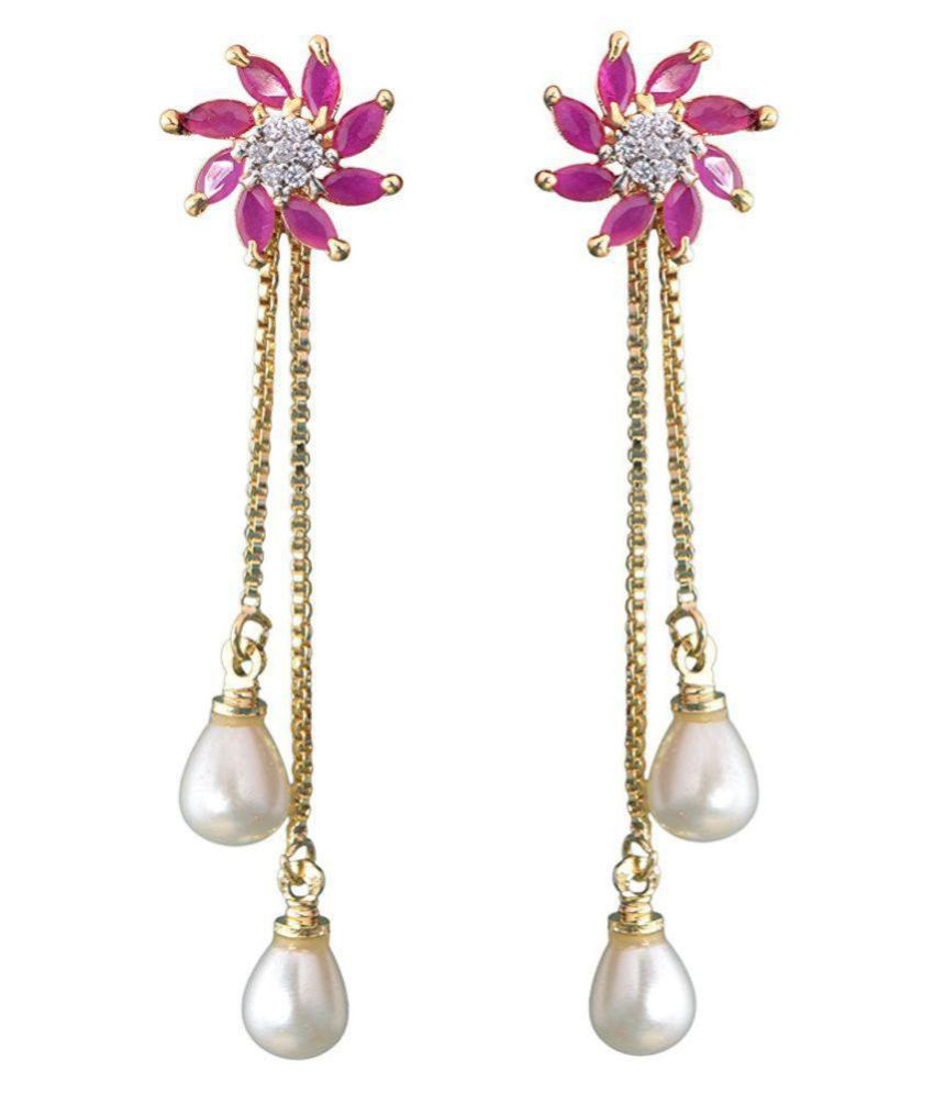 Khushiyan Fashion/Imitation jewellery AD and Created Pearl Ear Rings from Girls and Women