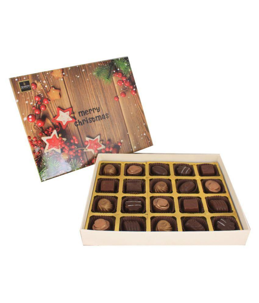 Zoroy Luxury Chocolate theme box of 20 Assorted Box Christmas and new year gift 225 gm