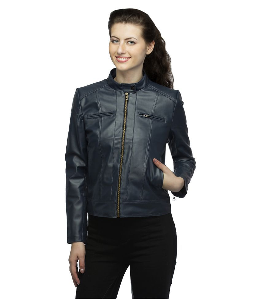 35460194d8 Buy Lambency Faux Leather Blue Biker Online at Best Prices in India ...