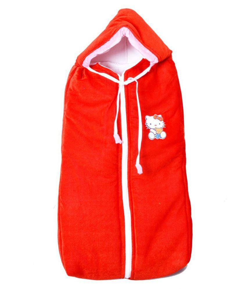 GURU KRIPA BABY PRODUCTS Red Fleece Sleeping Bags ( 78 cm × 38 cm)