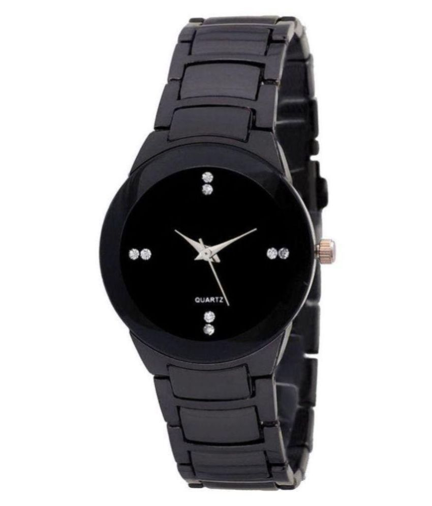 Silver and Black Analog Watch - For Girls, Women