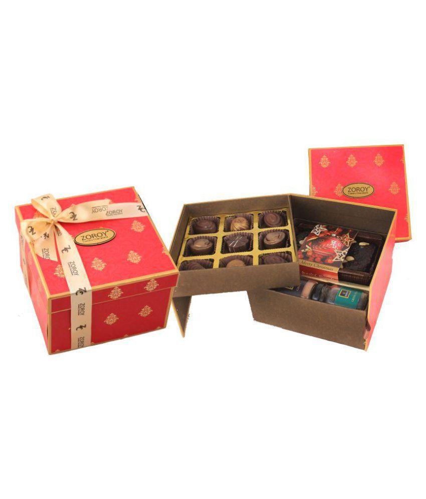 Zoroy Luxury Chocolate double decker Assorted Box Christmas and new year gift 750 gm