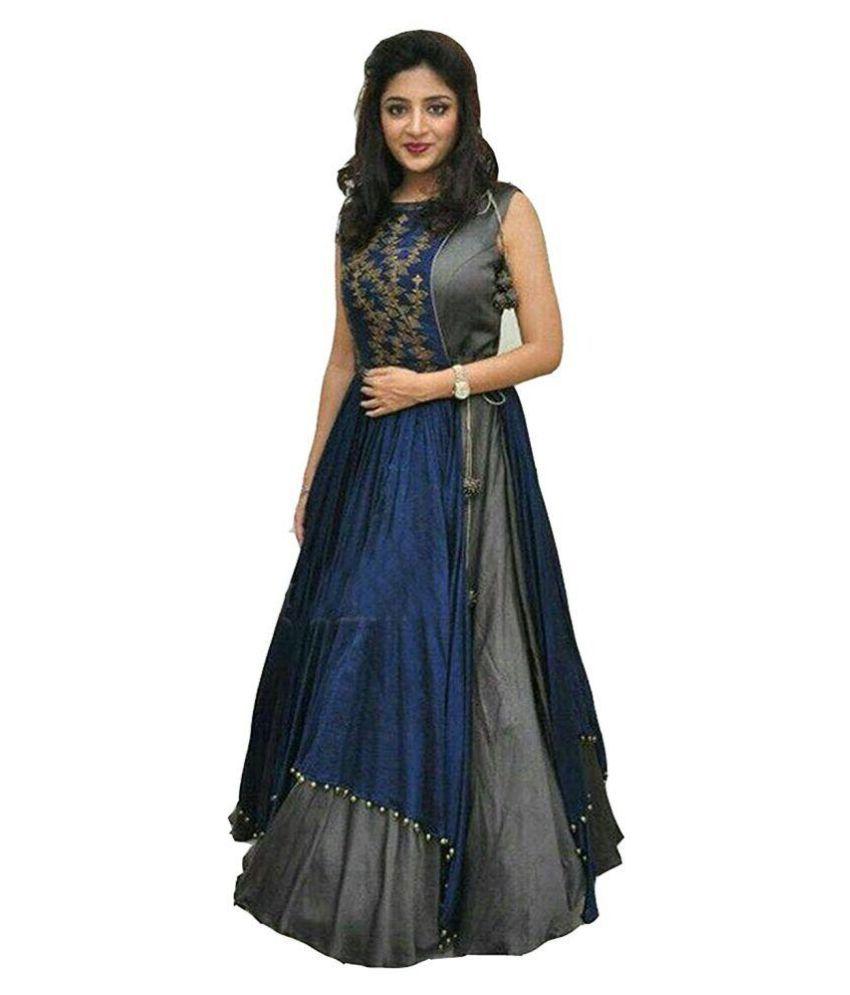 lehenga choli for women party wear New Lehnga Choli Cum Long Gown ...