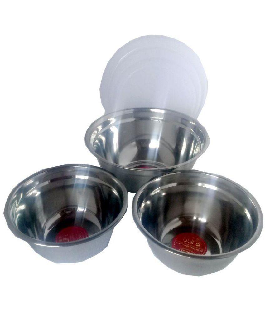 sellersindiya Steel Food Container Set of 3