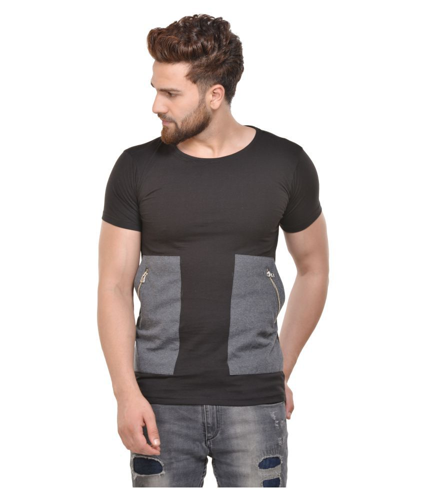 ACOMHARC INC Black Round T-Shirt Pack of 1