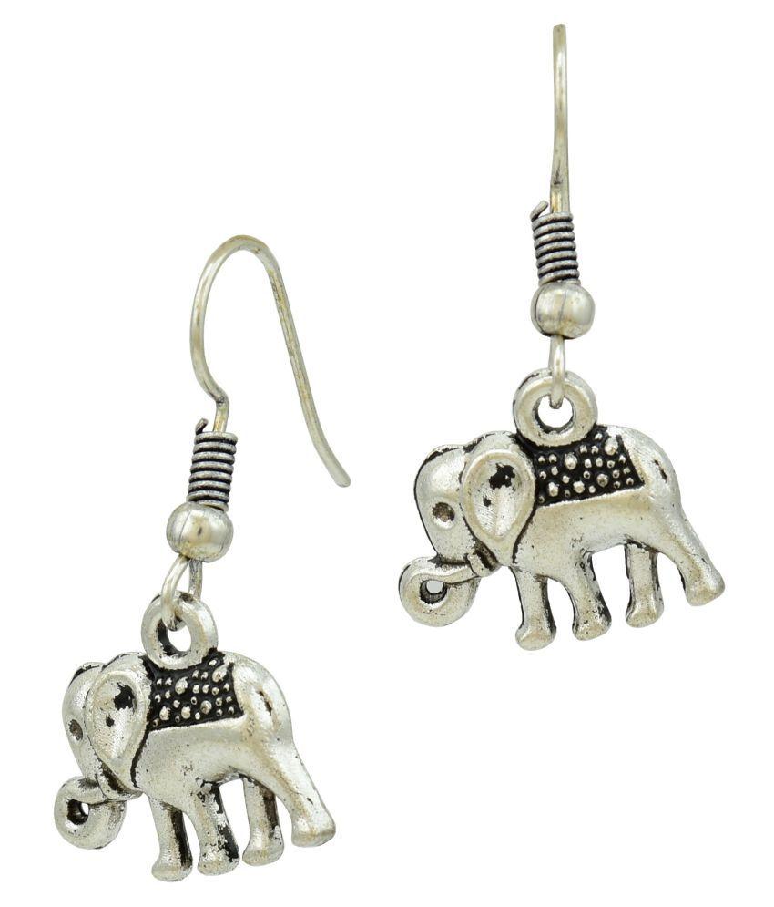 Tribal Elephant Dangle Earrings