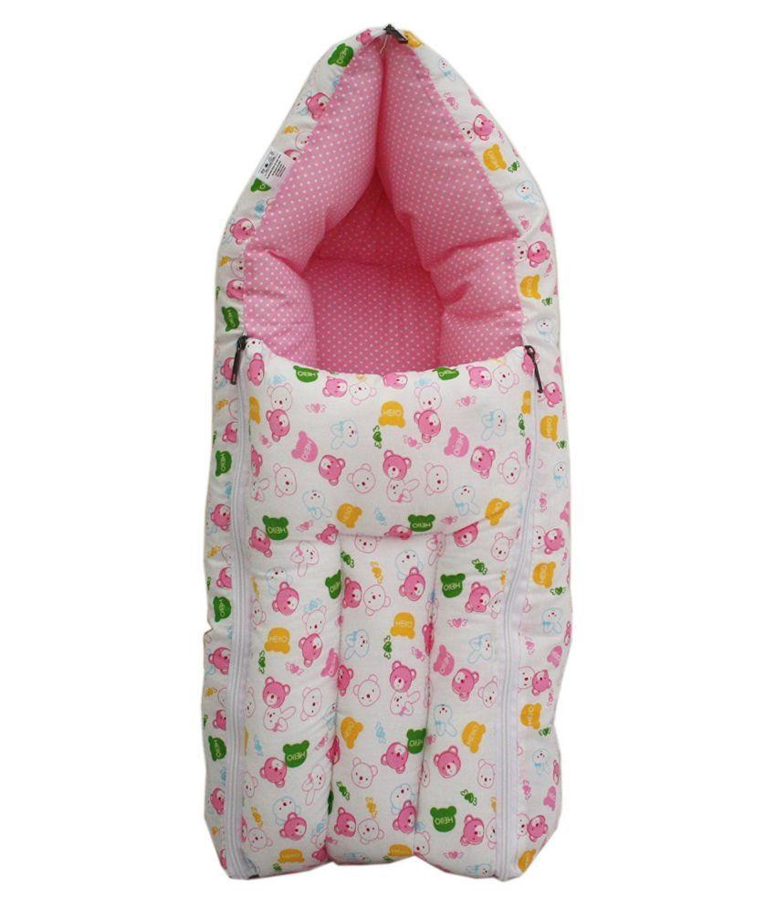 RBC Riya,R Pink Cotton Sleeping Bags ( 76 cm × 41 cm)