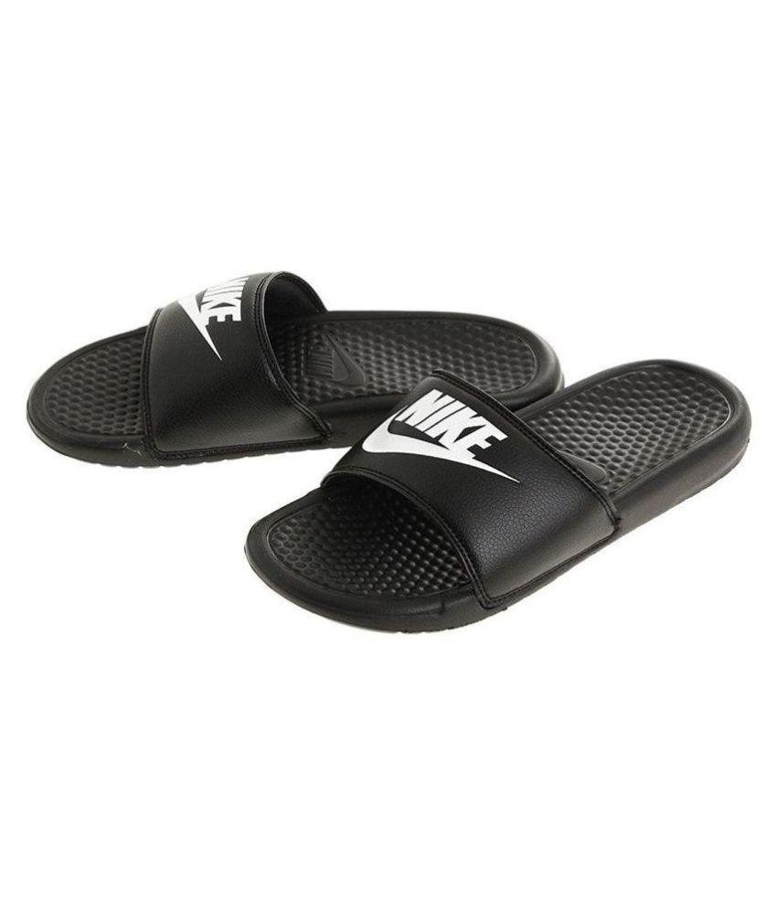 save off 00ca7 c439e Nike Benassi JDI Men s Sandals Black Slide Flip flop ...