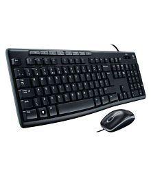 Logitech MK200 Black USB Wired Keyboard Mouse Combo