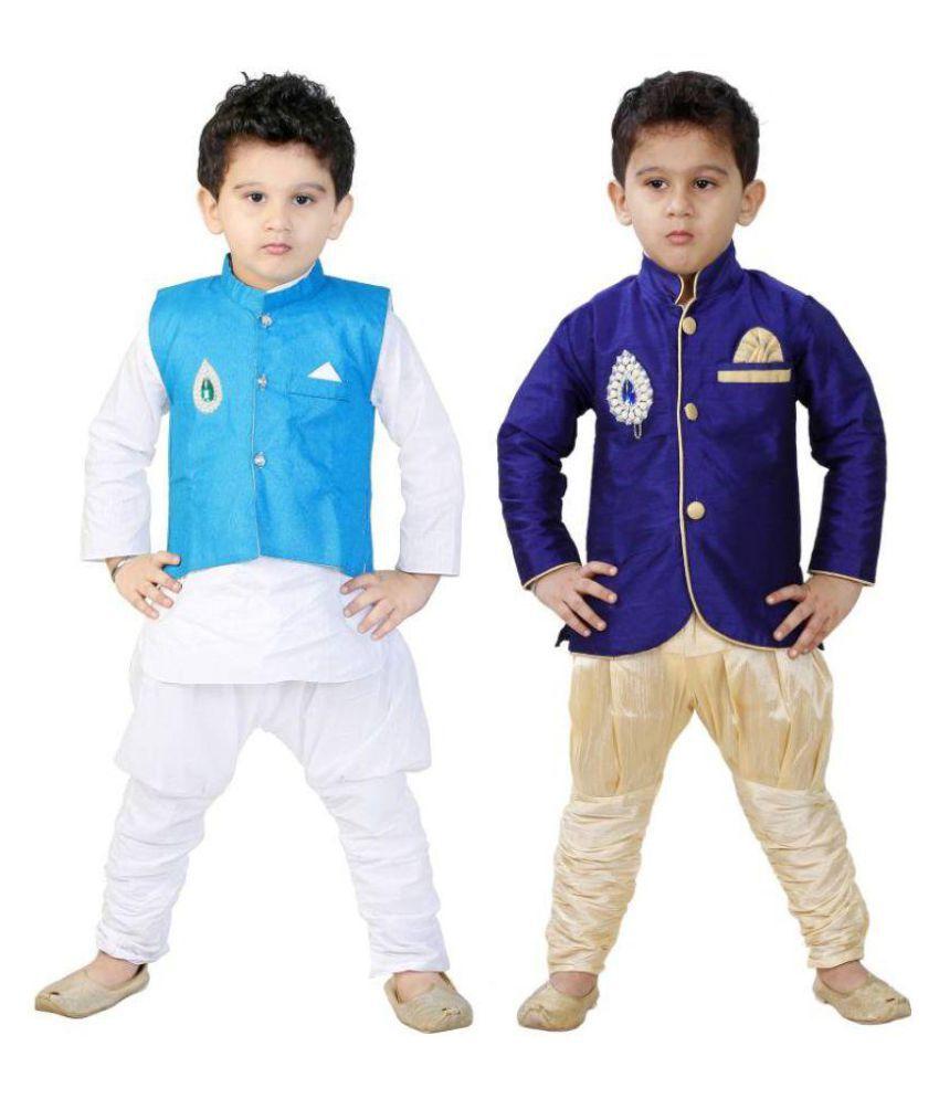 151b816f4 FTC Bazar Boys Festive & Party, Wedding Kurta, Waistcoat and Pyjama Set  (Multicolor Pack of 2) - Buy FTC Bazar Boys Festive & Party, Wedding Kurta,  ...