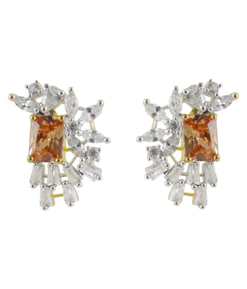 Rejewel Half Circle Shape Stud Earrings For Women