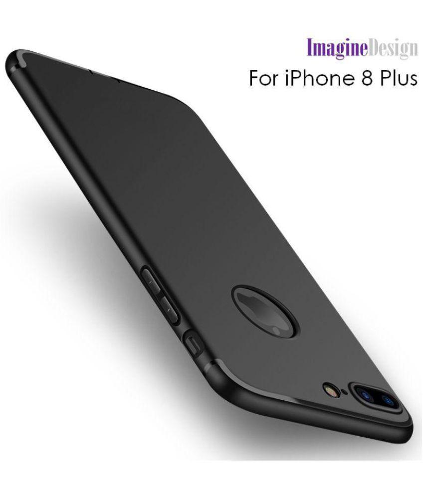 sports shoes 19df5 2d49b Apple Iphone 8 Plus Soft Silicon Cases Wow Imagine - Black