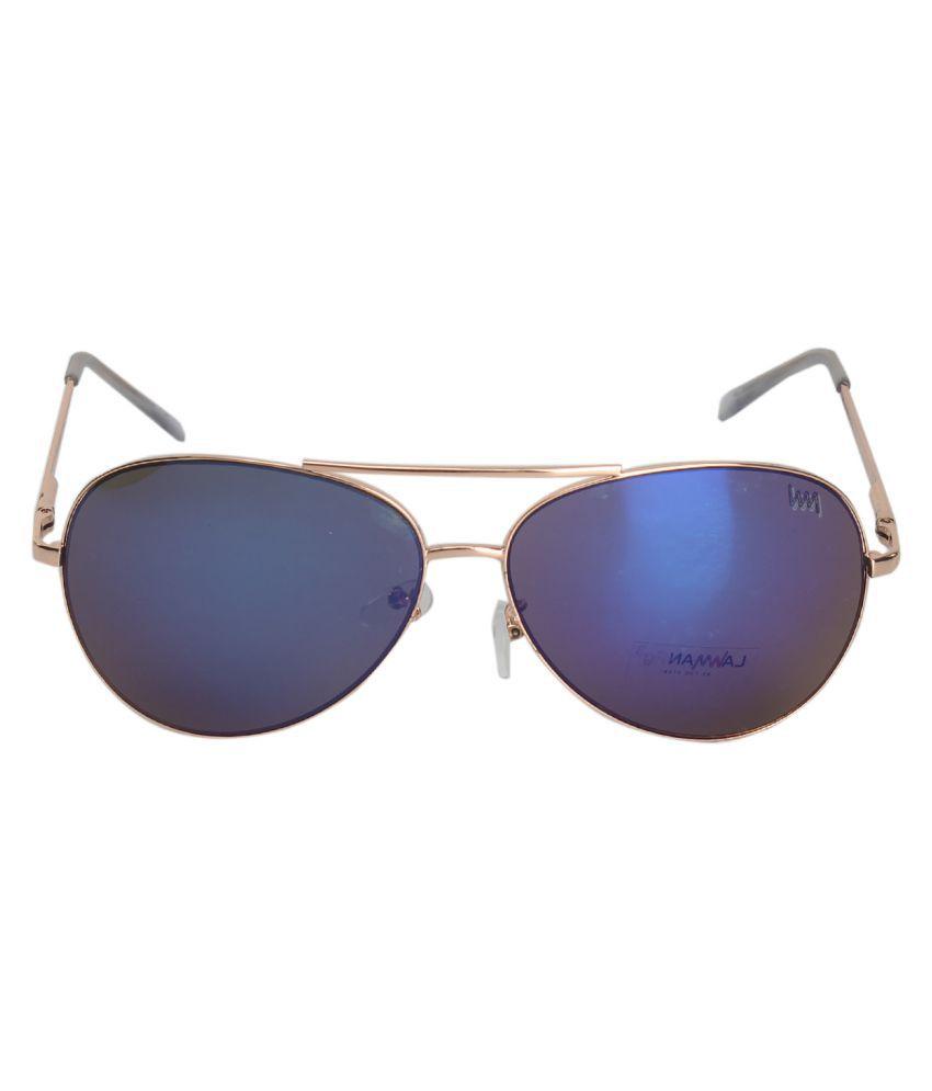 LAWMAN PG3 Blue Aviator Sunglasses ( LA2919-STNDRD-COL-4 )