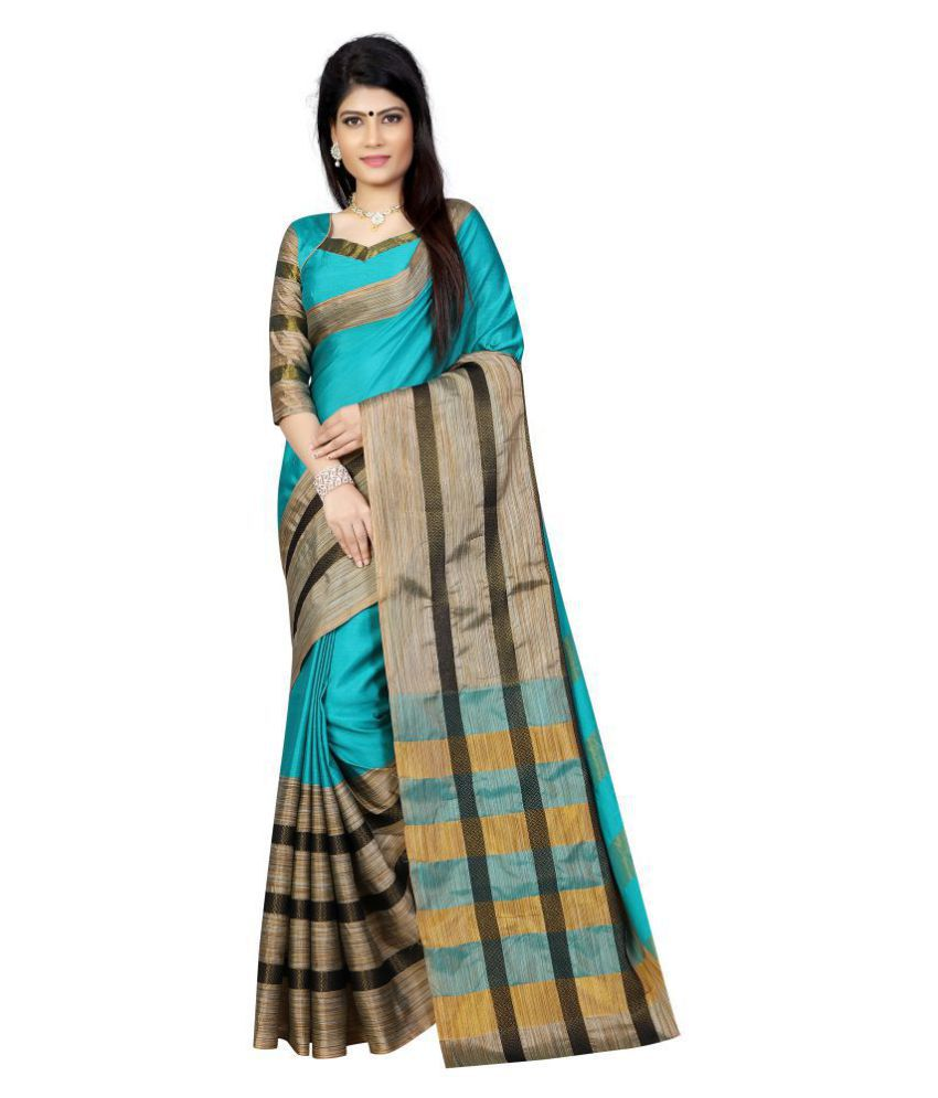 Vastrangam Multicoloured Cotton Saree