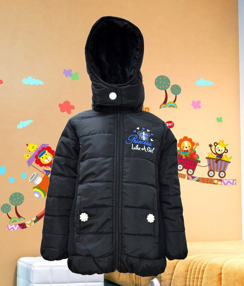 Come In Kids Full Sleeve Solid Girls Quilted Jacket