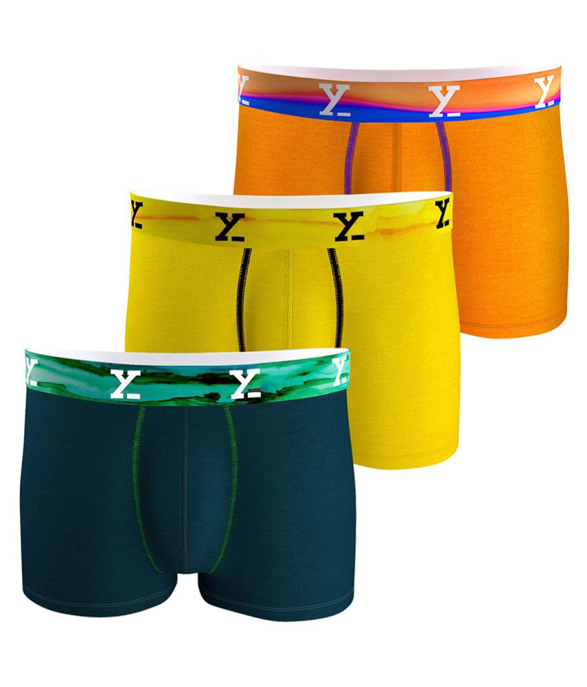 f30bf56d96de1b XYXX Yellow Trunk Pack of 3 - Buy XYXX Yellow Trunk Pack of 3 Online at Low  Price in India - Snapdeal