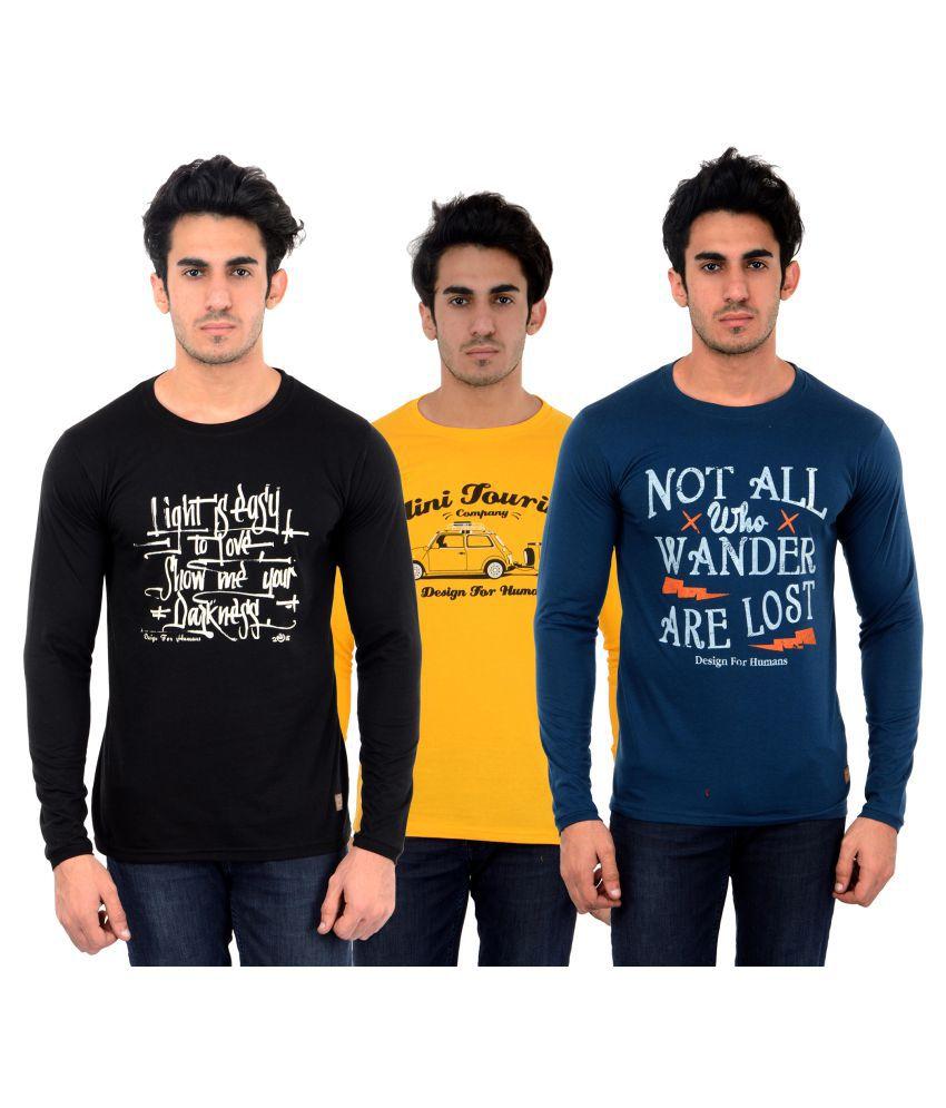 DFH Multi Round T-Shirt Pack of 3