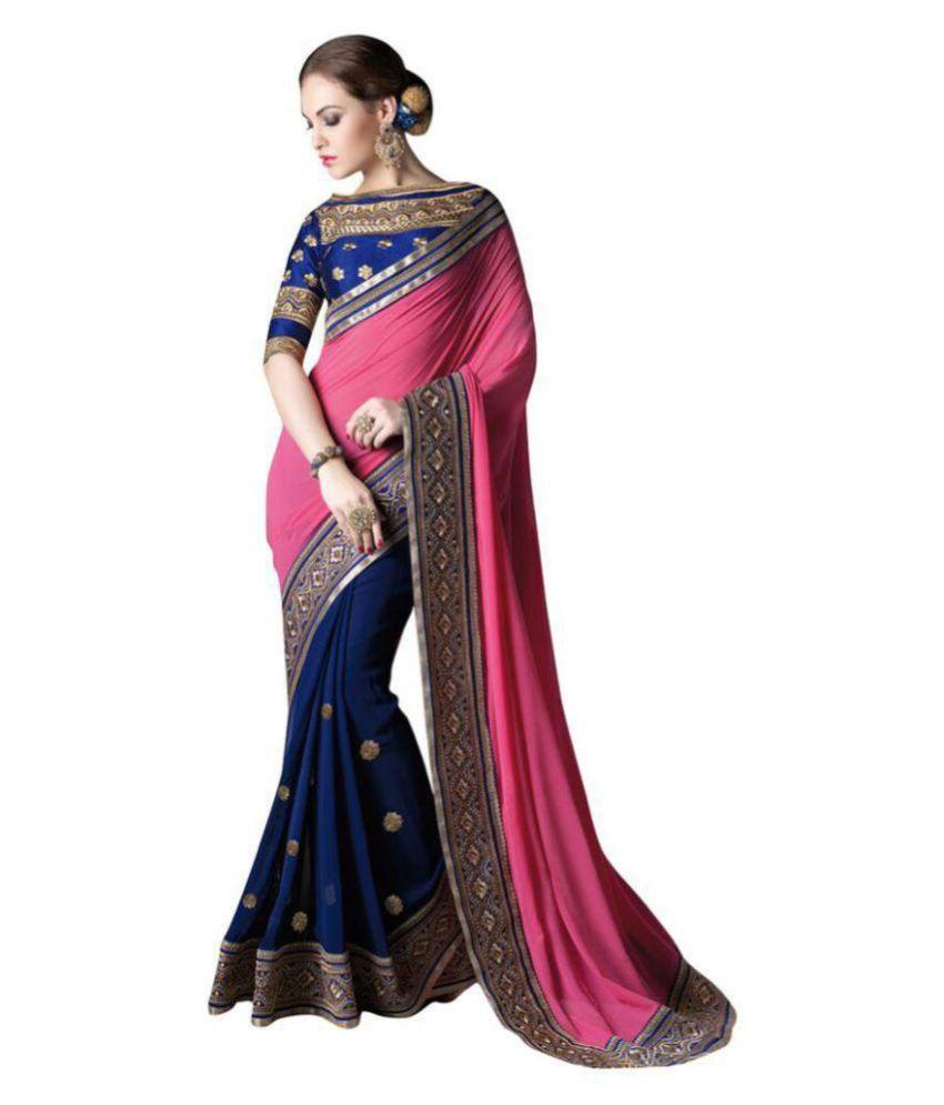 Party Wear Designer Sari Multicoloured Cotton Silk Saree