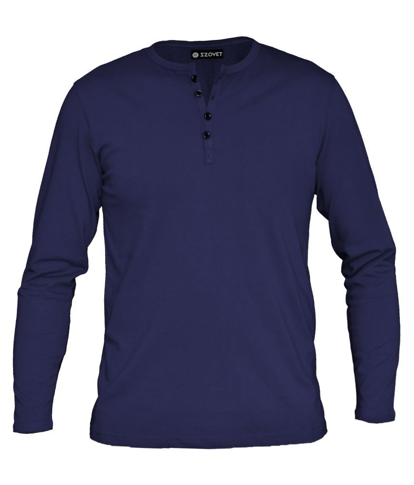 Szovet Navy Henley T-Shirt Pack of 1