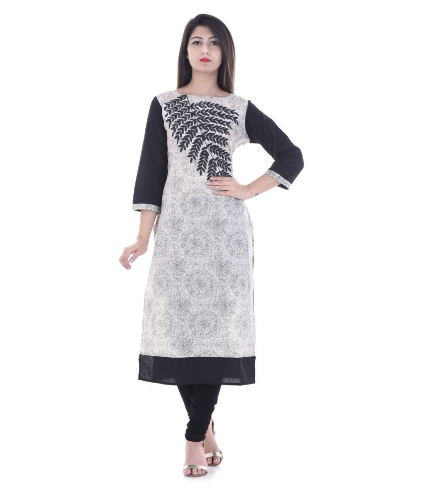Vedika Overseas Multicoloured Cotton Straight Kurti