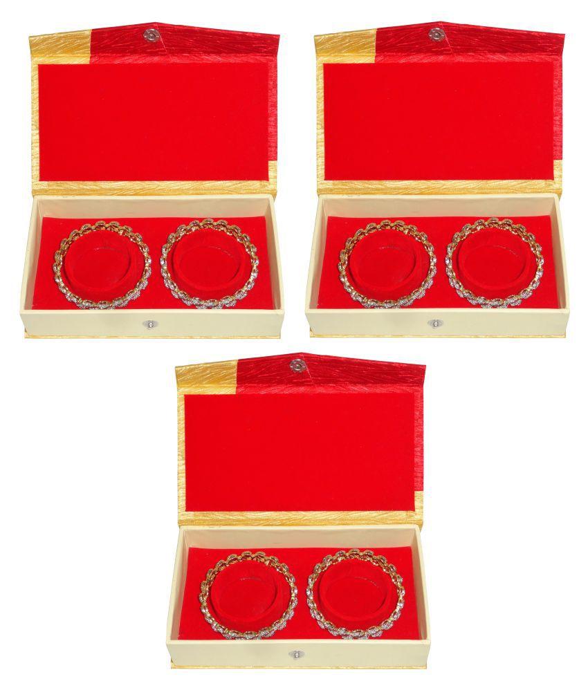 Atorakushon Pack of 3 Bangle Set Box Bracelet Jewelry Storage Box VanityCase Wardrobe Organizer (Red)