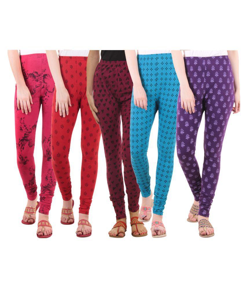 Fasha Cotton Lycra Pack of 5 Leggings