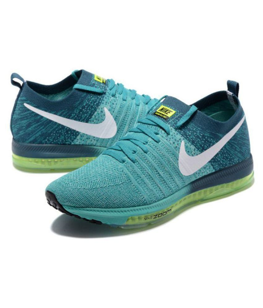 d2eebd14f0bd Nike Zoom All Out Flyknit Low Green Running Shoes - Buy Nike Zoom All Out  Flyknit Low Green Running Shoes Online at Best Prices in India on Snapdeal