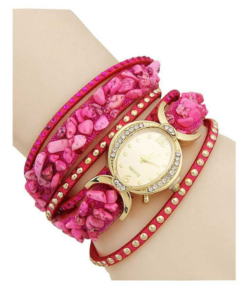 AELO Pink Analog Watch For Girls,Women Price in India: Buy AELO Pink ...