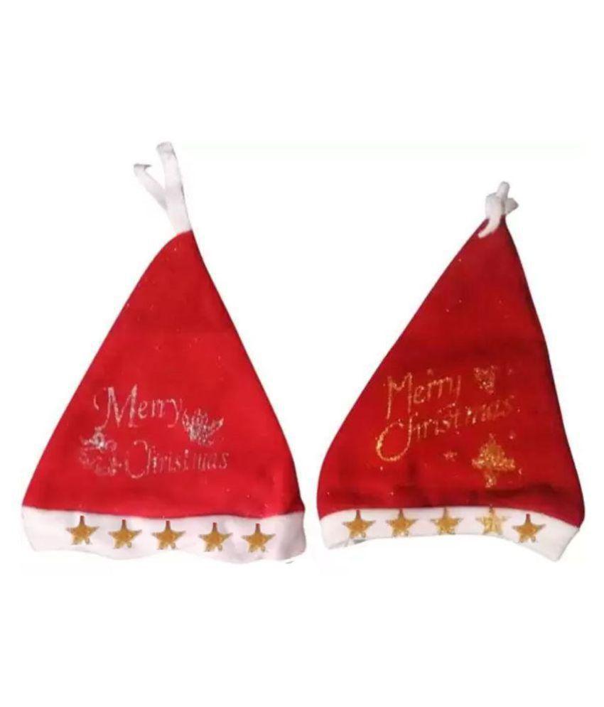 Combo Of 2 Merry Christmas Santa Claus Caps