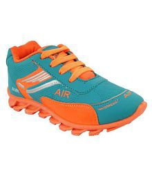 bunnies girl sport shoe (c.green/orange)