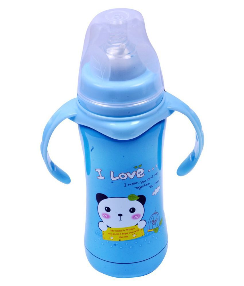 d9f47a4ef Guru Kripa 180 ml Multifunctional Baby Print Stainless Steel Feeding Bottle  Cum Straw Cum Sipper With ...