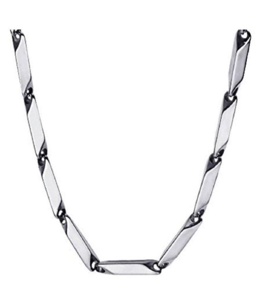 316L Stainless Steel Italian Style Thin Stick Necklace Chain Link for Men & Women